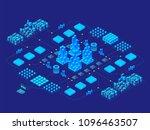 hi tech digital technology... | Shutterstock .eps vector #1096463507