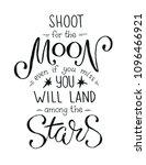 shoot for the moon poster hand...   Shutterstock .eps vector #1096466921