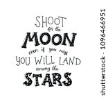 shoot for the moon poster hand... | Shutterstock .eps vector #1096466951
