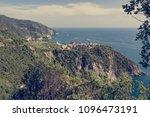 picturesque village rising... | Shutterstock . vector #1096473191