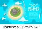 vector cartoon style background ... | Shutterstock .eps vector #1096492367