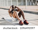 african american man works out... | Shutterstock . vector #1096493597