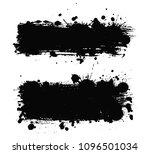 grunge banners.vector splatter... | Shutterstock .eps vector #1096501034