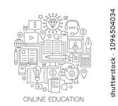 online education in circle  ...   Shutterstock .eps vector #1096504034