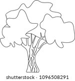 stylized deciduous tree... | Shutterstock .eps vector #1096508291