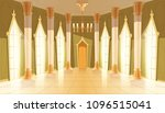 vector castle hall  interior of ... | Shutterstock .eps vector #1096515041