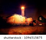 abstract effect.  lighthouse at ... | Shutterstock . vector #1096515875
