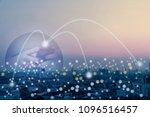 global world telecommunication... | Shutterstock . vector #1096516457