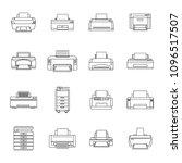 printer office copy document... | Shutterstock .eps vector #1096517507