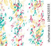 lines of musical notes.... | Shutterstock .eps vector #1096520555