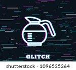 glitch effect. coffeepot line... | Shutterstock .eps vector #1096535264