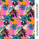 bright colorful summer pattern... | Shutterstock .eps vector #1096535387