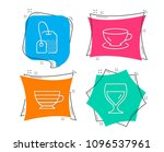 set of espresso  tea bag and... | Shutterstock .eps vector #1096537961