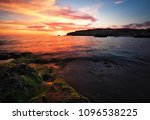 beautiful summer landscape with ... | Shutterstock . vector #1096538225