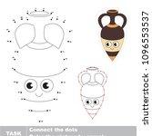 amphora vase. dot to dot... | Shutterstock .eps vector #1096553537