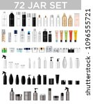 set vector blank templates of... | Shutterstock .eps vector #1096555721