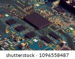 electronic circuit board close... | Shutterstock . vector #1096558487
