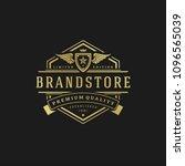 luxury logo design template... | Shutterstock .eps vector #1096565039