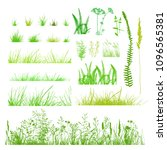 set silhouette of grass. vector | Shutterstock .eps vector #1096565381