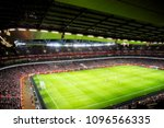 blurred background of football... | Shutterstock . vector #1096566335