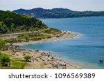 the shore of canyon lake  texas ... | Shutterstock . vector #1096569389