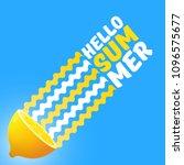 vector hello summer beach party ... | Shutterstock .eps vector #1096575677