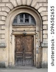 beautiful old wooden door with... | Shutterstock . vector #1096582655