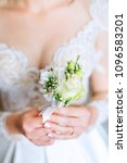 the bride in a beautiful white... | Shutterstock . vector #1096583201