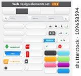 web design elements set white....   Shutterstock .eps vector #109658594