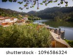 countryside landscape of the... | Shutterstock . vector #1096586324