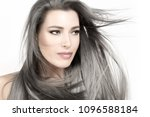 attractive young woman with... | Shutterstock . vector #1096588184