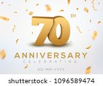 70 anniversary gold numbers... | Shutterstock .eps vector #1096589474