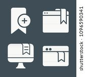 bookmark icon set   filled... | Shutterstock .eps vector #1096590341