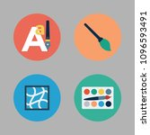icons paint accessory with text ... | Shutterstock .eps vector #1096593491