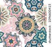 seamless mandala pattern for... | Shutterstock .eps vector #1096600415