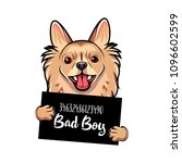 chihuahua bad boy. dog prison.... | Shutterstock .eps vector #1096602599