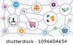 vector illustration of user and ... | Shutterstock .eps vector #1096604654