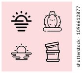 outline nature icon set such as ... | Shutterstock .eps vector #1096612877