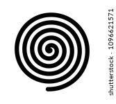 spiral icon. outline modern...