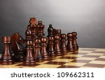 chess board with chess pieces... | Shutterstock . vector #109662311