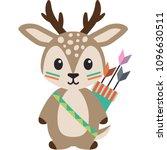 tribal woodland deer... | Shutterstock .eps vector #1096630511