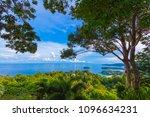 3 beaches viewpoint landmark to ... | Shutterstock . vector #1096634231