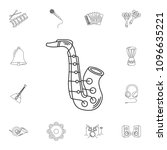 saxophone icon. simple element...   Shutterstock .eps vector #1096635221