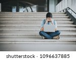 depressed and tired businessman ... | Shutterstock . vector #1096637885