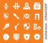 security filled set of vector... | Shutterstock .eps vector #1096641839