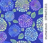 hydrangea flower seamless... | Shutterstock .eps vector #1096651211