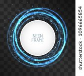 vector neon light effect circle ... | Shutterstock .eps vector #1096665854
