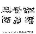 set of happy father's day...   Shutterstock .eps vector #1096667159