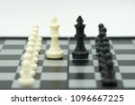 chessboard with a chess piece... | Shutterstock . vector #1096667225