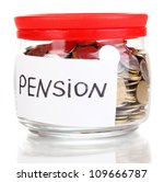 glass bank for tips with money... | Shutterstock . vector #109666787